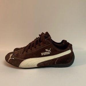 Puma Brown & Cream Suede  Canvas/Leather Sz 9
